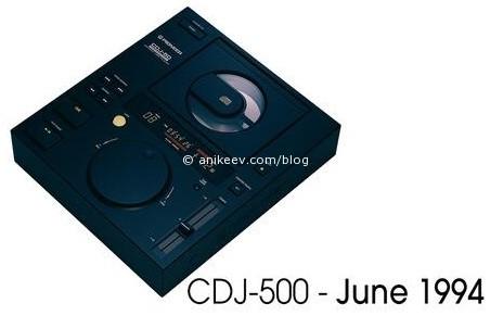 Pioneer CDJ 500 - первый live cue, 1994 год