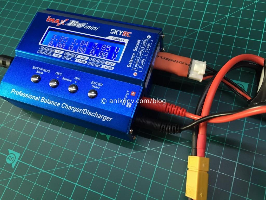 3s lipo from korea with 5pin balance plug connected to 4pin balance port