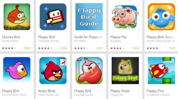 Клоны flappy bird - тысячи их!