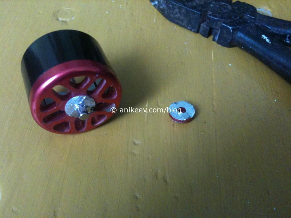 repair shaft rc motor turnigy sawed detail