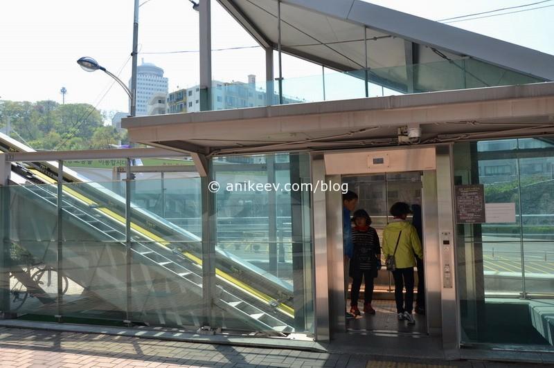 диагональный лифт на башню Сеула